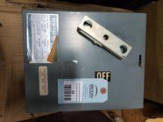 GE DE321R Fusible Flex-A-Plug switch unit. 30AMP, 240V, 3PH.