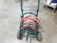 Hose reel cart.