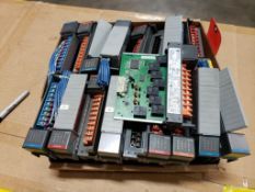 Qty 18 - Assorted Allen Bradley SLC500 Input / Output modules.