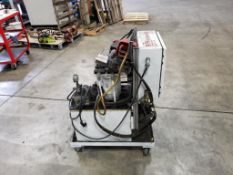 BTM toggle lock press. Hydropack 230/115V, 1PH, 1725RPM. Allen Bradley controls.