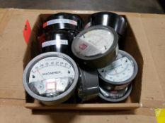 Qty 11 - Assorted Magnehelic gauges.