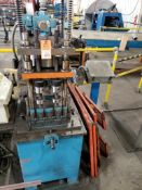 Samco pneumatic press includes safety guards.