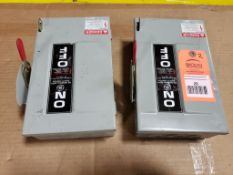 Qty 2 - GE General duty safety switch. TGN3321 30AMP.