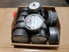 Qty 14 - Assorted Magnehelic gauges.