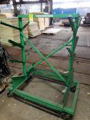 Rolling parts rack. 48x32x58. LxWxH.