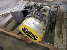 1/2-1/6HP Budget 1/2-Ton chain hoist. 439549-11A. 380/460V, 3PH.