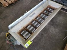 Qty 2 - Assorted electrical. Overhead heating unit, with Lithonia lighting IBZ-454-480-CS97W.