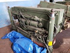 """8ft x 44"""" x 55"""". LxWxH. Military mobile truck crane 3810-01-146-7211. 7760Lbs. 14620 LBS load."""