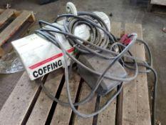 1/2HP Coffing 1/4-Ton chain hoist. JLC0516-1-20. 115-230V, 1PH, 16FPM.
