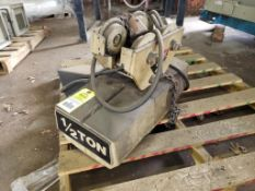 Coffing 1/2-Ton chain hoist with Coffing 2-Ton trolley.