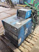 Miller Deltaweld 302 CV-DC Welding power source with S-22A 24V wire feeder.
