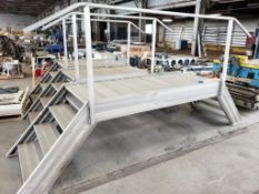 """Aluminum walkway 12ft Long x 48"""" wide x 36"""" high deck, with 70"""" overall height."""