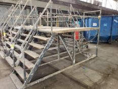 """Scaffolding ladder. 18FT Long x 36"""" Wide x 54"""" Tall (to deck), 94"""" (overall)."""