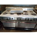 Garland 10-burner stove. 60x33x44. LxWxH.