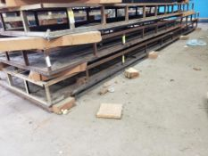 """Material vacuum table. 27FT x 55.5"""" x 12"""". LxWxH."""