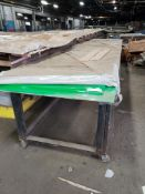 """Material cutting / forming table. 20FT x 56"""" x 40"""". LxWxH."""