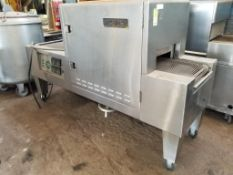 Thermobake AFTEC pass-through oven. 97x37x59. LxWxH.