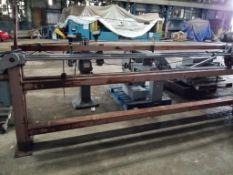 cutting saw. 3/4HP Boston Gear motor. 90V, 1750RPM.