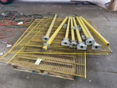 Safety cage for machine.