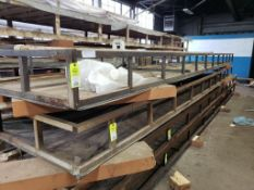 """Material vacuum table. 22FT x 55.5"""" x 12"""". LxWxH."""
