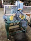 Dual head production miter saw. 1.5HP and 3HP Baldor motors. 208-230/460V, 3PH.