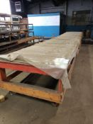 Material cutting table. 328x55x36. LxWxH.