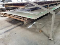 Building material cutting table. 35FT x 10FT x 2FT. LxWxH.
