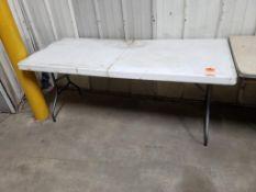 6ft folding table.