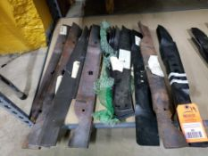 Qty 19 - Assorted mower blades. New old stock.