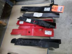 Qty 13 - Assorted mower blades. New old stock.