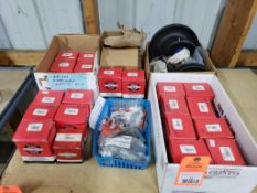 Large assortment of lawnmower and small engine repair parts. New as pictured.