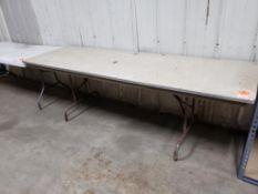 8ft folding table.