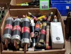 Large assortment of fuses. Fusetron, Amp-Trap, Buss.