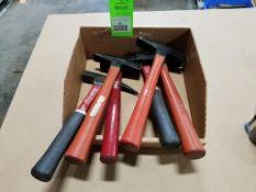 Qty 6 - Assorted hammers. Plumb.