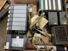 Assorted electrical PLC racks. Gould, Siemens, Allen Bradley.