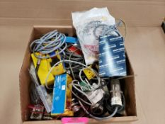 Assorted electrical sensor, switch. Microswitch, Banner.