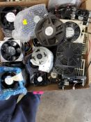 Assorted electrical fan assembly. Nuline, Papst, NMB.
