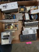 Assorted electrical power supply, transformer. Omron, Acme, Magnetek, Lambda.
