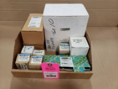 Assorted replacement parts. Phoenix Contact, Eaton. New in box.