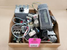 Assorted electrical. Relays, contactor, meter. ABB, Siemens, Square-D, Schmersal.