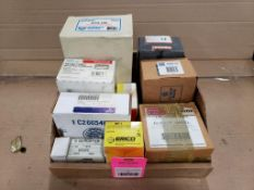 Assorted replacement parts. Erico, Emerson, Honeywell.