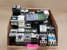 Assorted electrical contactor, relays, user panel. Allen Bradley, Cutler-Hammer, Square-D.
