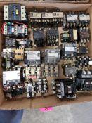 Large assortment of contactor, starters. GE, Allen Bradley, Square-D.