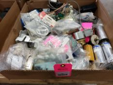 Assorted electrical, replacement parts. Capacitors, sensor, switches. Robert Shaw, Vicon.