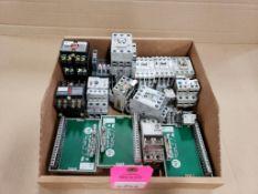 Assorted electrical. contactors, relays, wire terminal. Allen Bradley.