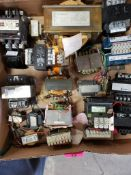 Assorted electrical transformers, relays. MTE, Cutler-Hammer, GE.