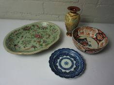 Mixed Lot of Pottery and China, To include Reproduction Chinese Celadon Pottery, Doulton Lambeth