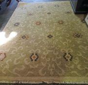 Turkish Carpet, Having Floral Decoration on a Beige Ground, 310cm x 244cm