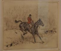 """Tom Carr (1912-1977) """"The Ditch"""" Colour Etching, Signed in Pencil, Number 58 of 75, 25cm x 30cm"""