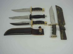 """Falcon"" Bowie Knife, Made in Spain, Blade 22cm long, With an Army style Sheath, Also with ""Tris-"